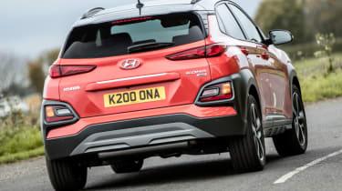 Hyundai Kona review - road action rear