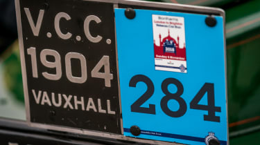 London to Brighton Veteran Car Run  -  Vauxhall number plate