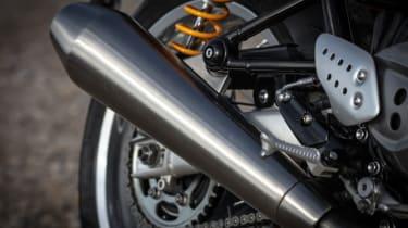 Triumph Thruxton R review - silencer