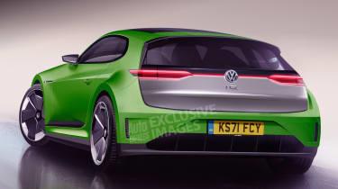 Volkswagen Scirocco EV - rear (watermarked)