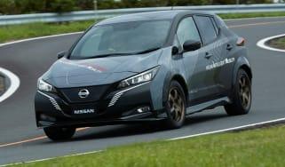 Nissan Leaf 4x4 e-4ORCE- front cornering