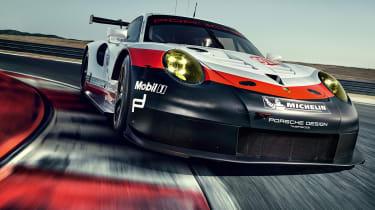 Porsche 911 RSR - front cornering