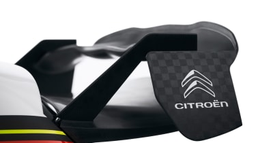 Citroen C3 WRC 2017 white background rear wing
