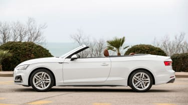 Audi A5 Cabriolet - roof down