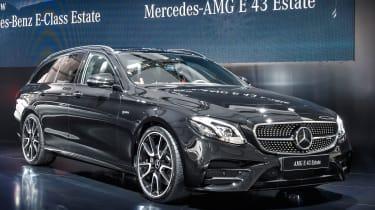 Mercedes E-Class Estate - launch AMG 43 front quarter