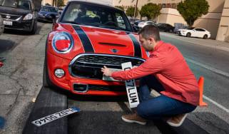 MINI number plate change
