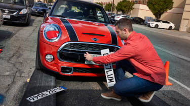 MINI number plate change