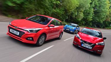 Hyundai i20 vs Citroen C3 vs Nissan Micra - header