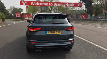 Cupra Ateca long termer brands hatch rear