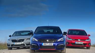 Peugeot 308 GTi vs VW Golf GTI vs Skoda Octavia vRS - static header