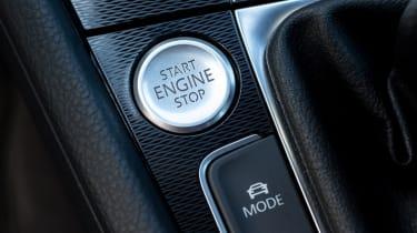 Volkswagen Golf GTD start button