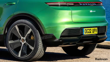 Porsche Macan EV - render close rear
