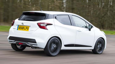 Nissan Micra N-Sport - rear tracking
