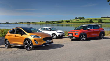 Ford Fiesta Active vs Citroen C3 Aircross vs SsangYong Tivoli - header
