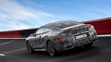 New BMW 8 Series spy shots  rear track