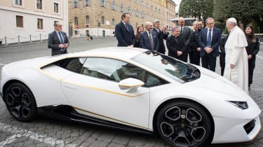 Pope Francis Lamborghini Huracan side