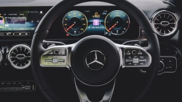 Mercedes A Class steering wheel