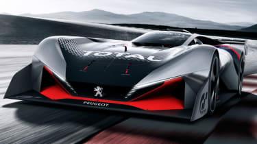 Peugeot L750 R Hybrid Vision Gran Turismo - action front quarter