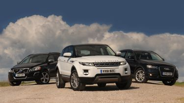 Range Rover Evoque eD4 vs rivals