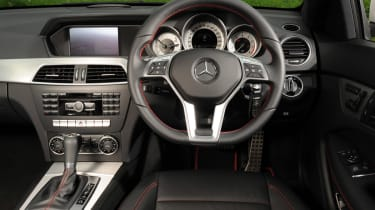 Mercedes C180 Coupe interior