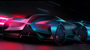 DS X E-Tense concept - rear