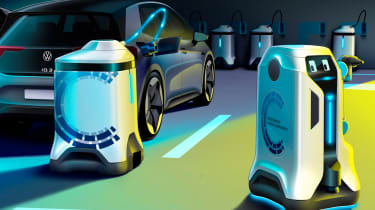 Volkswagen EV charging robot - action
