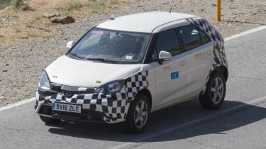 MG ZS spied - front/side action