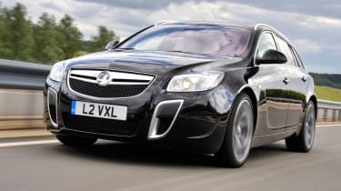 Vauxhall Insignia VXR Sports Tourer front tracking