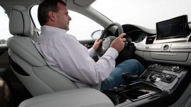 Audi S8 driving
