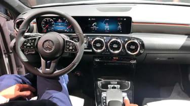New Mercedes A-Class - reveal dash