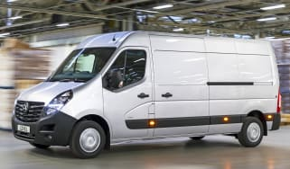 2019 Vauxhall Movano front quarter