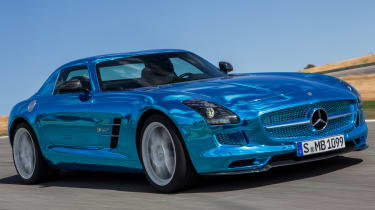 Mercedes SLS AMG Electric Drive front tracking