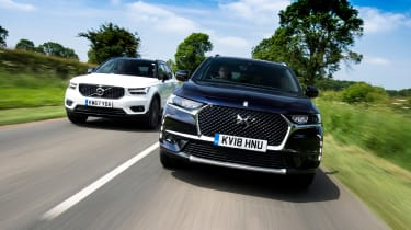 DS 7 Crossback vs Volvo XC40 - header