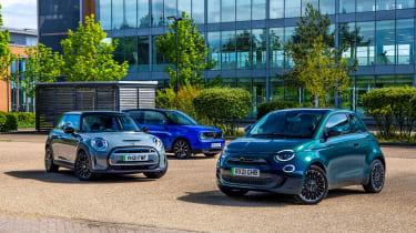 Fiat 500 vs Honda e vs MINI Electric