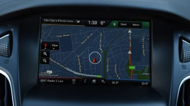 Ford Focus RS Mountune - sat-nav