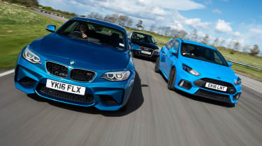 BMW M2 vs Ford Focus RS vs Audi RS3 - header