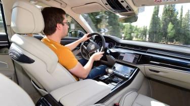 New Audi A8 2017 - driving