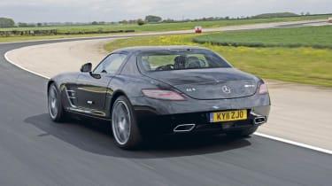Mercedes SLS AMG rear track