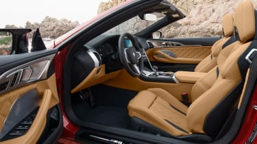 BMW M8 Competition Convertible - front seats