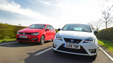 SEAT Ibiza Cupra vs VW Polo GTI - header
