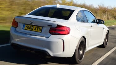 bmw m2 competition tracking rear