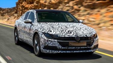 Volkswagen Arteon prototype - front tracking