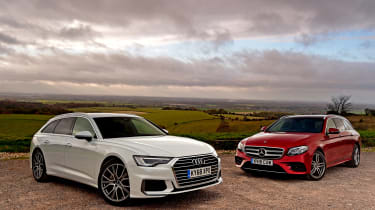 Audi A6 Avant vs Mercedes E-Class Estate - head-to-head