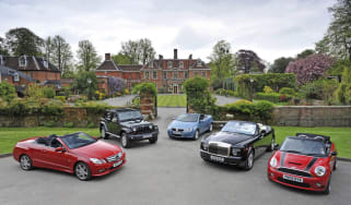 Four-seat cabriolets tested
