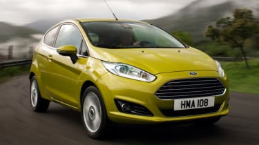 Ford Fiesta front cornering