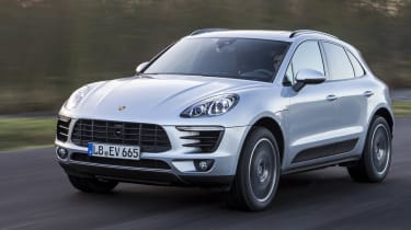 Macan front action