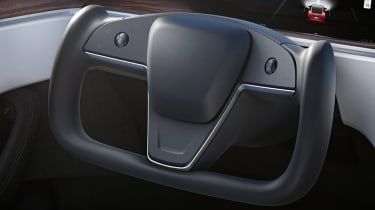 Tesla Model S facelift - steering wheel