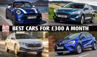Best new cars for under £300 per month - header
