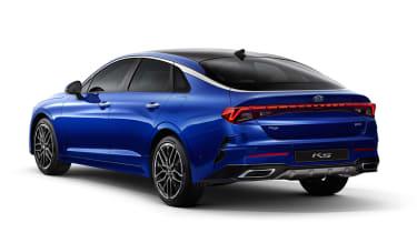 Kia Optima - blue studio rear