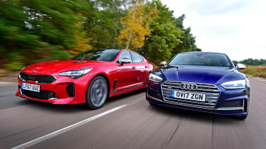 Kia Stinger vs Audi S5 - header